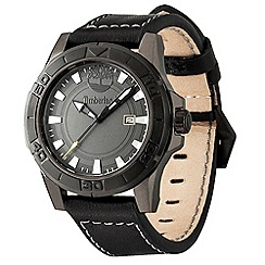 Timberland - Men's black 'rollins' round leather watch