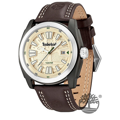Timberland - Men+s brown +dunster+ leather strap watch