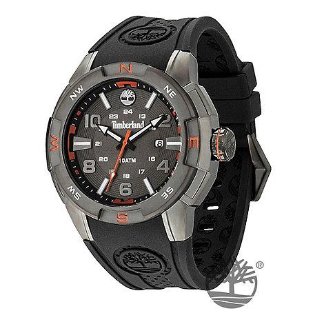 Timberland - Men+s black +altamont+ rubber strap watch