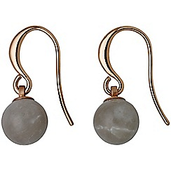 Pilgrim - Rose gold plated grey earrings