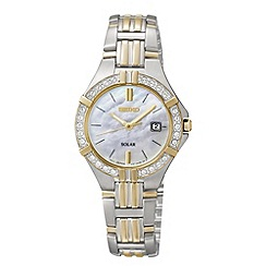 Seiko - Ladies silver mother of pearl dial mixed plated strap watch