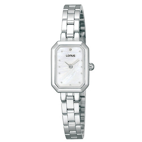 Lorus - Ladies silver hexagonal dial watch