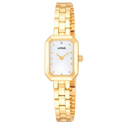 Lorus - Ladies gold hexagonal dial watch