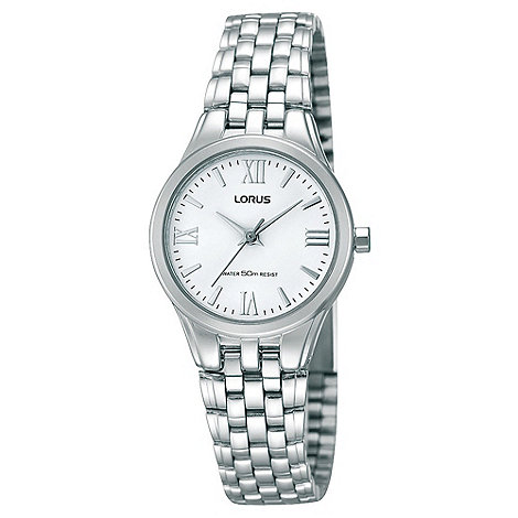 Lorus - Ladies silver round dial bracelet strap watch