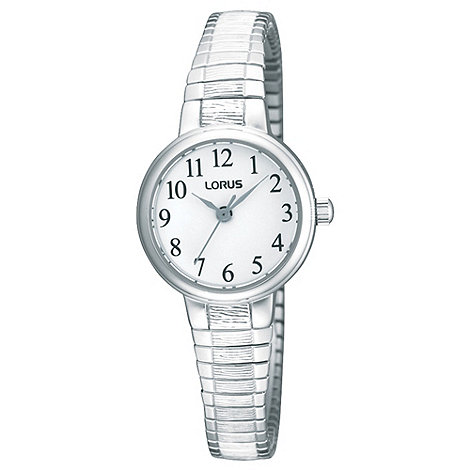 Lorus - Ladies silver flared expanding strap watch