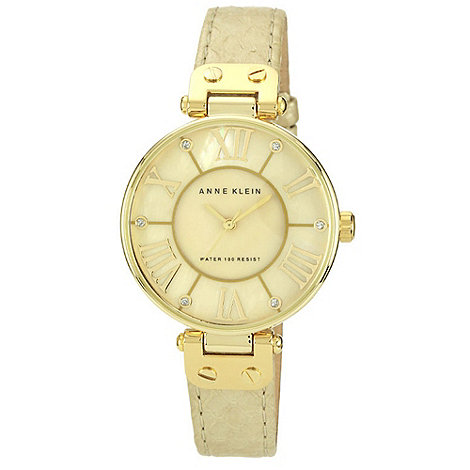Anne Klein - Ladies gold stone dial watch