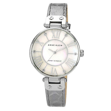 Anne Klein - Ladies silver stone dial watch