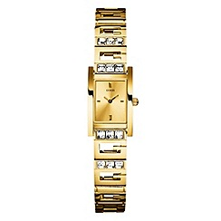 Guess - Ladies champagne dial gold bracelet watch