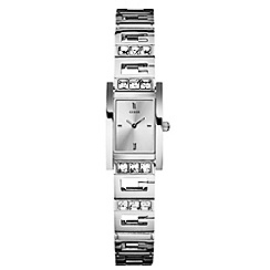 Guess - Ladies logo bracelet silver watch