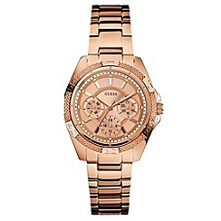 Guess - Ladies rose coloured multi-function watch