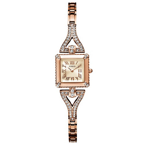 Guess - Ladies white dial rose bracelet watch