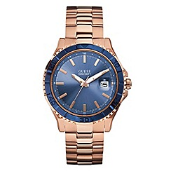 Guess - Men's rose watch with blue dial
