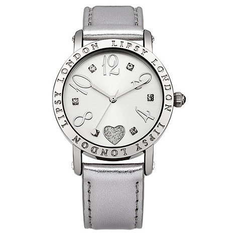 Lipsy - Ladies silver strap watch with silver dial