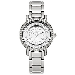 Lipsy - Ladies silver tone bracelet watch with silver dial