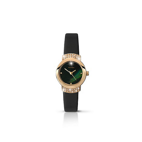 Sekonda - Ladies gold plated case with black strap watch