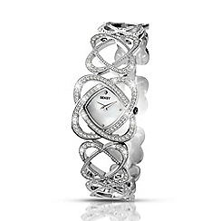 Seksy - Ladies embellished silver watch