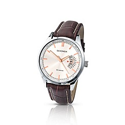 Sekonda - Men's brown leather strap watch