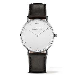 PAUL HEWITT - Unisex black 'Sailor Line' analogue watch ph-sa-s-st-w-2m
