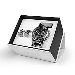 Guess - Men's silver chronograph watch UBS00004