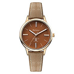 Barbour - Ladies brown 'emberton' leather strap watch