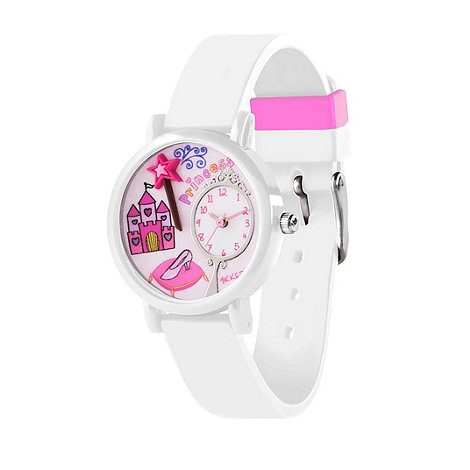 Tikkers - Kids' white silicone strap 3D fairy watch