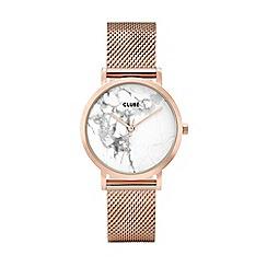 Cluse - Ladies rose gold 'La Roche' petite mesh bracelet watch
