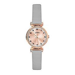 Limit - Ladies grey analogue strap watch