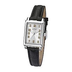 Limit - Ladies black analogue strap watch