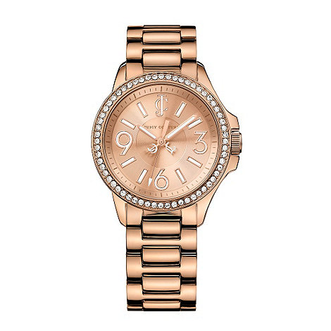 Juicy Couture - Ladies rose pave bezel watch