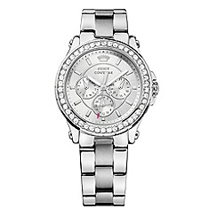 Juicy Couture - Ladies silver chronograph wrist watch