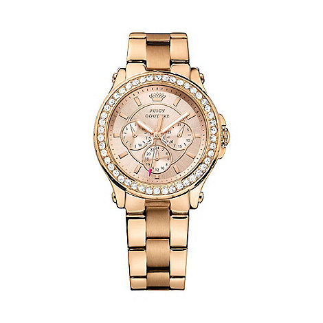 Juicy Couture - Ladies rose chronograph wrist watch 31901050