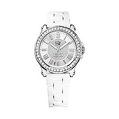 Juicy Couture - Ladies silver diamante wrist watch