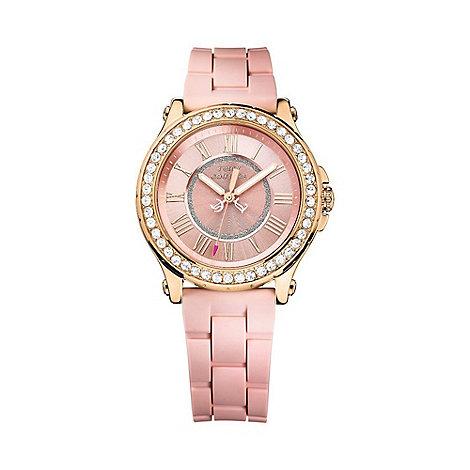 Juicy Couture - Ladies rose numeral diamante watch