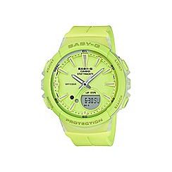 Casio - Ladies green baby g with step counter and alarm watch bgs-100-9aer