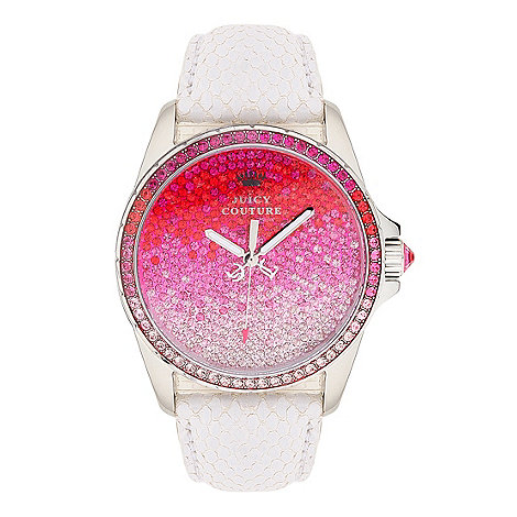 Juicy Couture - Ladies white snake strap wrist watch