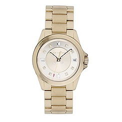 Juicy Couture - Ladies gold diamante wrist watch