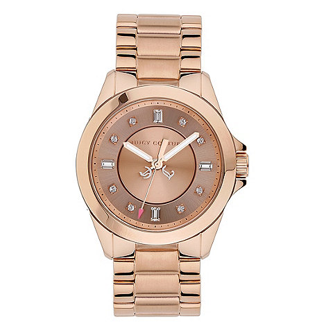 Juicy Couture - Ladies rose diamante wrist watch