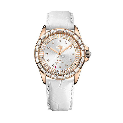 Juicy Couture - Ladies gold mock croc diamante watch