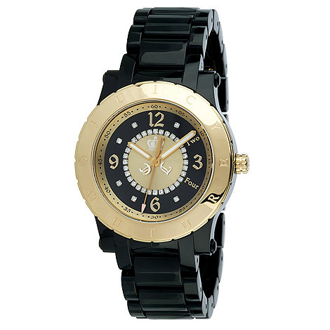 Juicy Couture - Ladies black contrast case bracelet watch