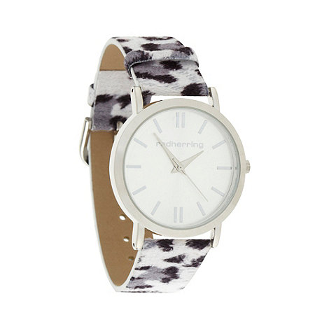 Red Herring - Ladies grey animal strap watch