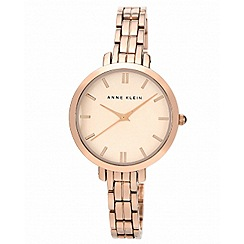 Anne Klein - Ladies rose gold round dial watch