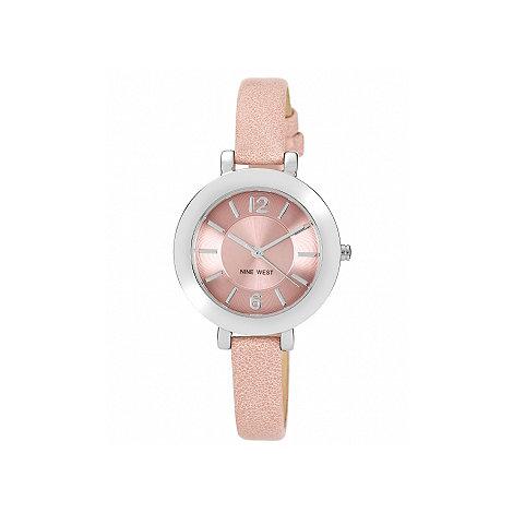 Nine West - Ladies pink strap watch