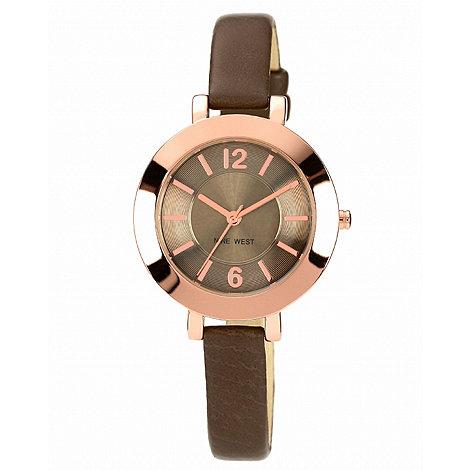 Nine West - Ladies brown strap watch
