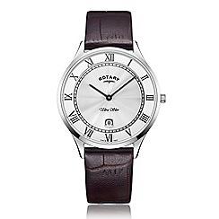 Rotary - Men's brown 'Ultra Slim' watch GS08300/01