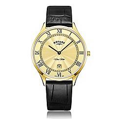 Rotary - Men's black 'Ultra Slim' watch GS08303/03