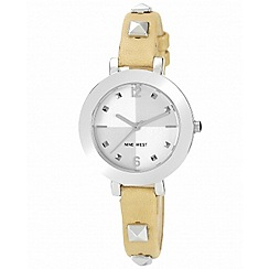 Nine West - Ladies beige studded watch
