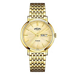 Rotary - Men's gold 'Windsor' watch GB05303/03