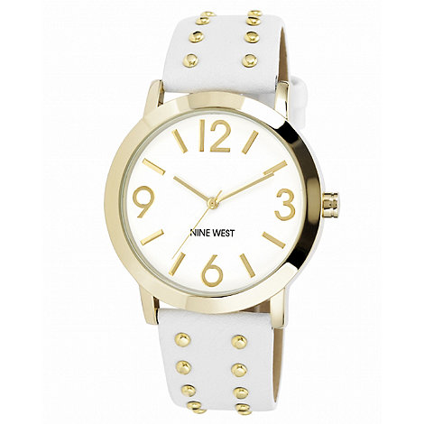 Nine West - Ladies white studded watch
