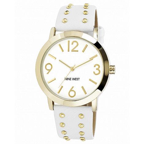 Nine West - Ladies white studded watch