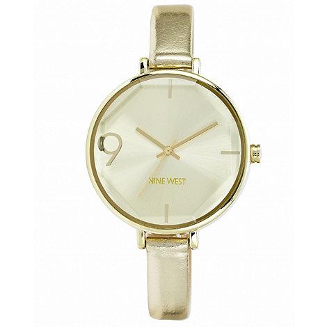 Nine West - Ladies gold strap watch